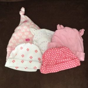 5-Pack of Baby Girl's Hats
